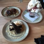Our afternoon tea - Corned Beef Hash Cakes and desserts
