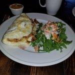 Egg White Omelet with Salad