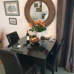 a small dining table in the lounge