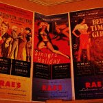 Pulp style posters in entrance
