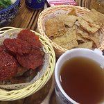 Trio Platter and Herbal Tea