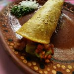 One of  most delicious taco in town!! Inside the filling: dried beef, crispy pork, cactus, and l