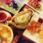 Tom Yam Talay, Fish and Chips, Moo Chup Paeng Thawt, and Ginger Tea