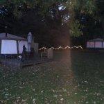 Beautiful yurts and fairylights