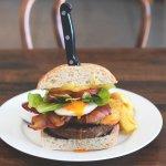 Burger at Saxton Cafe