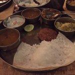 Appam with all curries, stews, sambhar
