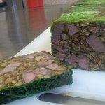 Veal knuckle and lentil terrine