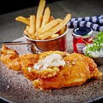 Italian Beer battered Fish with chips