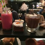 Brownie, Smoothie, Carrot Cake, Chocolate Pot and Eclair
