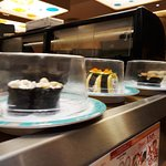 sushi on conveying belt