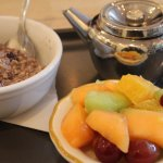 Fruit salad and porridge