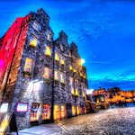 View of Cannonball House and Edinburgh Castle from Royal Mile