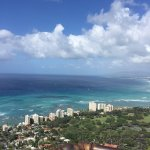 View from one outlook at top of Diamond Head Crater