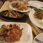 The four dishes that we ordered.