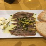 Anchovies, butter and bread, local specialty