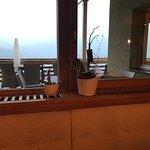 Einzige Fensterdekoration im Speisesaal