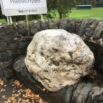 The Rock at the entrance to Peebles Town