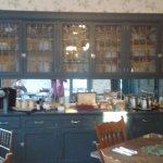 Amazing leaded glass built in buffet in the breakfast room.