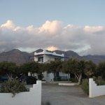 Fata Morgana apartments with mountain backdrop