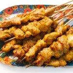 chicken kabab serving