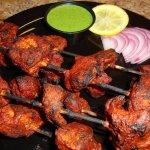 tandoori chicken serving