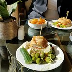 What a great way to check in, having a tasty lunch at Club Level Lounge .