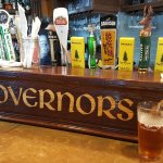 Beer taps at Governors pub