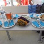salade d' octopus et crudités