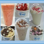 A selection of yogs and shakes