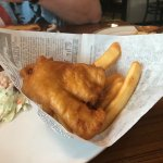 I had the half order (pub size) fish and chips, which was plenty! Very delicious. Fish was tasty
