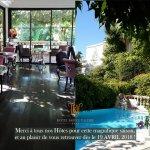l'Hôtel Sainte Valérie a fermé les portes de son jardin pour l'hiver - réouverture le 19 avril 2