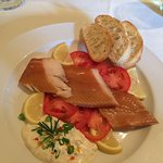 Perfectly Smoked Trout, with a marvelous Horseradish Sauce with Capers!
