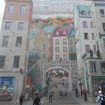 Wonderfully detailed mural fills an entire wall