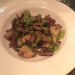 roasted wild mushrooms, pancetta, salsa verde