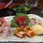 Chef's selection sashimi lunch at Cafe Sushi, Cambridge