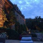 Après le dîner sur la terrasse avec le chateau éclairé !