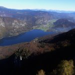 Bohinj Lake from gondola up to Vogel