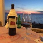 Strofilia wine while watching the sun set