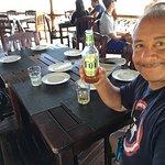 The best beer overlooking the Fijian sea
