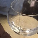 Broken water glass and microwaved carbonara...