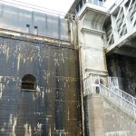 Going down the lift lock