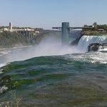 Behind/above the Niagara Falls, USA