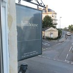 Hillhouse Sign from our window overlooking the intersection