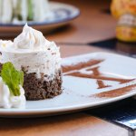 Coco Tres Leches -- Triple Chocolate Cream Cake with Whipped Cream