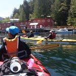 Paddling into Telegraph Cove, BC