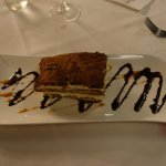 Perfect and exquisite tiramisu (sparkler removed) -- which could have easily shared to four peop