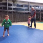 Grandpa enjoyed the jumping pillow, the Grandchildren playing chess and climbing at the playgrou