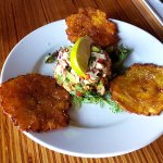 Rockfish Ceviche with crisp patacones