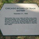 Plaque at Union artillery position