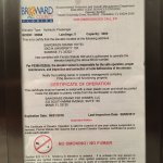 Photo of ID for dangerous elevator out of acceptable operating conditions floors 5-6